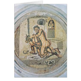 Theseus luttant avec le Minotaur Carte De Vœux