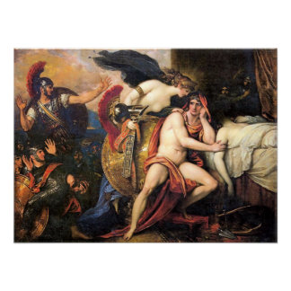 Thetis apporte l'armure d'Achille Poster