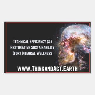 "ThinkandAct.Earth ""Funthreementals "" Sticker Rectangulaire"