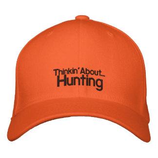 Thinkin au sujet de la chasse casquette de baseball brodée