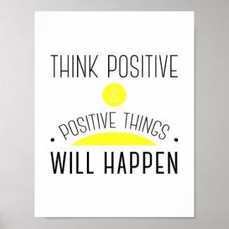 ThinkPositive et choses positives se produiront Poster