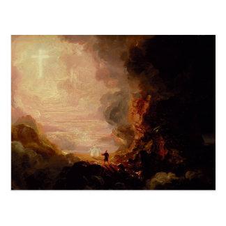 Thomas Cole le pèlerin de la croix Carte Postale