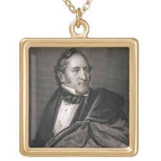 Thomas Hart Benton, gravé par William G. Armstro Collier Plaqué Or