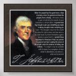 Thomas Jefferson - citations de multiple Affiche