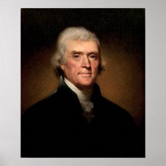 Thomas Jefferson par Rembrandt Peale - Circa 1800 Affiches