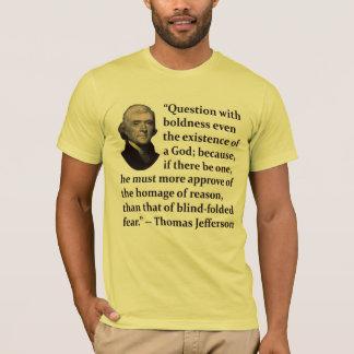 Thomas Jefferson sur le T-shirt de foi