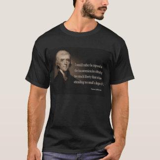 Thomas Jefferson sur le T-shirt de liberté