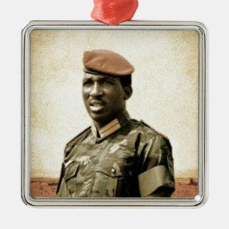 Thomas Sankara - Burkina Faso - président africain Ornement Carré Argenté