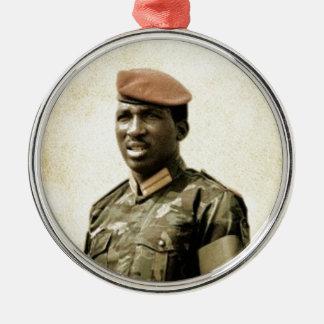 Thomas Sankara - Burkina Faso - président africain Ornement Rond Argenté