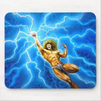 Thor bleu de Zeus de foudre de mythologie d'un Tapis De Souris