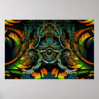 Thorne de fractale symétrique de Thornz 3D Posters