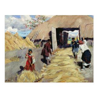 Threshing-floor, 1916 carte postale