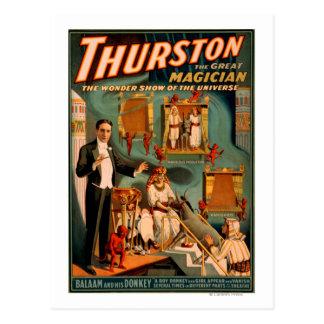Thurston - les démons et l'âne disparaissent la carte postale