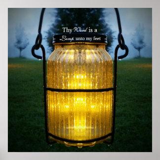 Thy mot est une lampe à mon art d'écriture sainte poster