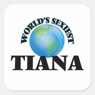 Tiana le plus sexy du monde autocollants carrés