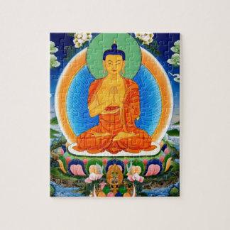 Tibétain Thangka Prabhutaratna Bouddha Puzzle