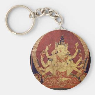 Tibétain Thanka de Guhyasamaja Akshobhyavajra Porte-clefs
