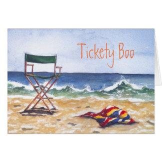 """""""Tickety huent"""" la carte de voeux et l'enveloppe"""
