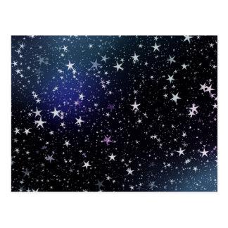 Tient le premier rôle le ciel nocturne carte postale
