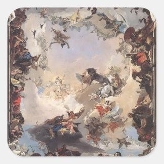 Tiepolo-Allégorie de Giovanni des planètes, Autocollant Carré
