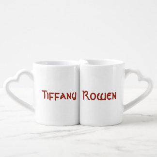 Tiffany et tasses d'emboîtement de Rowen
