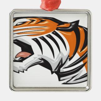 tiger3 ornement carré argenté