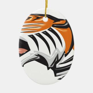 tiger3 ornement ovale en céramique
