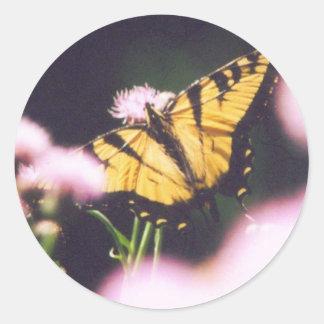 TigerSwallowtail Adhésifs Ronds