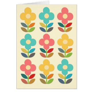 Tiges de style et floral nordiques carte de vœux