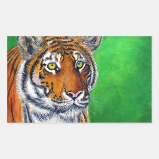 Tigre 2 sticker rectangulaire