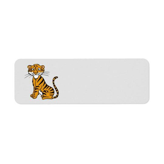 Tigre Animated Étiquettes D'adresse Retour