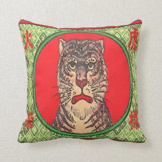 Tigre, art japonais vintage coussin