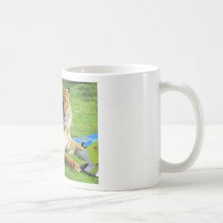 tigre au zoo mug à café