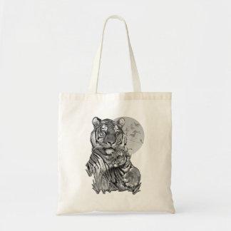 Tigre avec CUB (B/W) sac fourre-tout