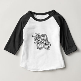 Tigre avec le tatouage de roue de Katana et de T-shirt Pour Bébé