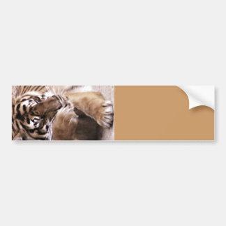 Tigre avec un heart_ autocollants pour voiture