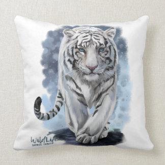 Tigre blanc coussin