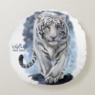 Tigre blanc coussins ronds