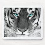 Tigre blanc noir tapis de souris