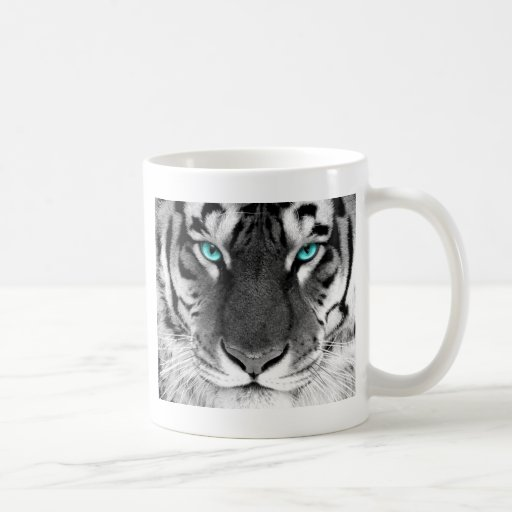 Tigre blanc noir mugs