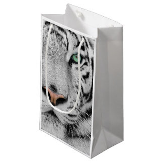 Tigre blanc petit sac cadeau