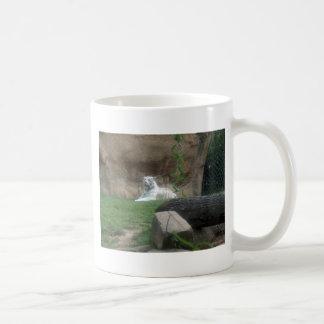 Tigre blanc se dorant mug
