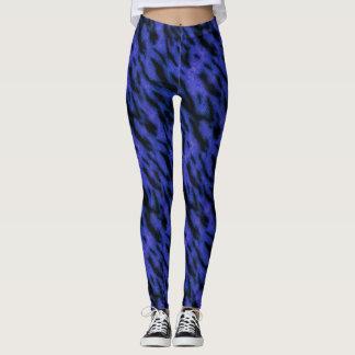 Tigre bleu leggings