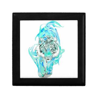 tigre bleu petite boîte à bijoux carrée