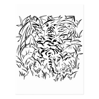 tigre camouflé cartes postales