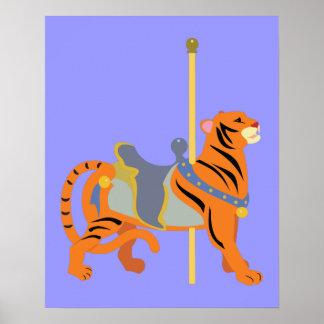 Tigre d'animal de carrousel poster