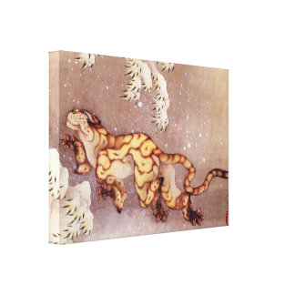 Tigre dans la neige par Hokusai Toiles