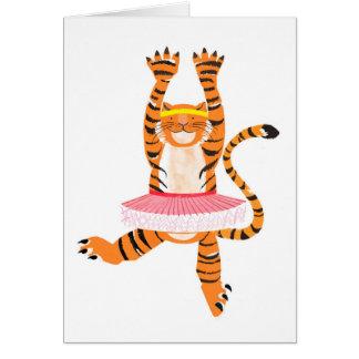 Tigre dans un tutu carte de vœux