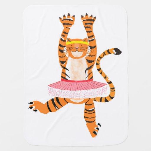 tigre dans un tutu couvertures pour b b zazzle. Black Bedroom Furniture Sets. Home Design Ideas