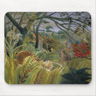 Tigre dans une tempête tropicale par Henri Tapis De Souris